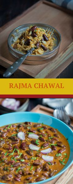 Punjabi Rajma Masala – Kidney beans (rajma) simmered in an onion-tomato gravy with common Indian spices. Easy Weeknight meals. Paired best with rice and this dish is also known as rajma chawal (rajma rice). Its gluten free and if you omit butter, it can be made vegan. Nothing can be as filling as this simple Rajma curry and a rice with onions and lemon wedge on the side. If you don't mind the heat, a green chilli may also be good. #rajma #indianfood