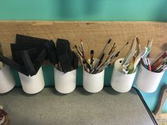 Organizing art supplies! Via Art Outside the Lines Art Studio-Columbus, Ohio.