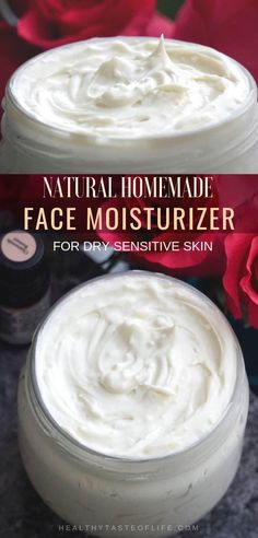 Natural Homemade DIY Face Moisturizer For Sensitive Skin / Dry Skin - it's an . - Natural Homemade DIY Face Moisturizer For Sensitive Skin / Dry Skin – it's an ultra hydrating DI - Mask For Dry Skin, Oil For Dry Skin, Lotion For Dry Skin, Cream For Dry Skin, Dry Face Skin, Face Lotion, Acne Skin, Oily Skin, Homemade Face Moisturizer