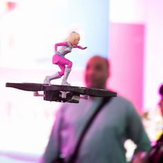 "#Barbie is getting that most important of contemporary status symbols  a #hoverboard. But unlike the ""hoverboards"" marketed at real people Barbie's board actually hovers carrying the doll aloft on a quadrotor drone that can be flown with a pink-and-blue wireless controller. by verge"