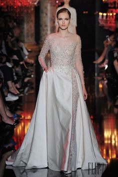 Embellished Elie Saab gown with an illusion slit // Top Wedding Dress Trends for 2015 - Part 2