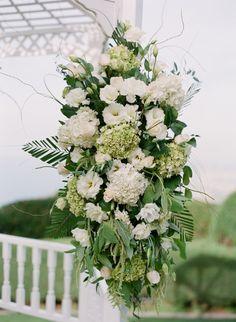 Gorgeous white flowers: http://www.stylemepretty.com/california-weddings/palos-verdes-estates/2015/05/05/intimate-palos-verdes-wedding-at-la-venta-inn/ | Photography: Valentina Glidden - http://blog.valentinaglidden.com/