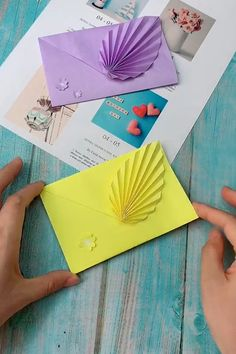 Easy Origami Envelope Making Tutorial - DIY Paper Envelope with Leaf - , , The E. - Easy Origami Envelope Making Tutorial – DIY Paper Envelope with Leaf – , , The Effective Pictur - Cool Paper Crafts, Paper Flowers Craft, Paper Crafts Origami, Diy Paper, Fun Crafts, Colour Paper Craft, Origami Envelope Easy, Instruções Origami, Oragami