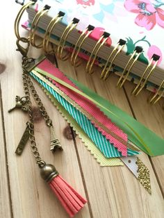 Summer in Paris - Tassel Charms - Planner Charm - Planner Accessories - Erin Condren Charm - Kikki Charm - Midori Charm by simbiosisbyjulia on Etsy https://www.etsy.com/listing/276764070/summer-in-paris-tassel-charms-planner