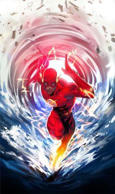 #Flash #Fan #Art. ( Flash Justice League) By: Kim Intae. (THE * 5 * STÅR * ÅWARD * OF: * AW YEAH, IT'S MAJOR ÅWESOMENESS!!!™)