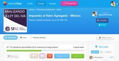 Estudiando el IVA con la aplicación @memrise http://www.memrise.com/course/1046810/impuesto-al-valor-agregado-mexico/