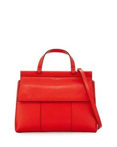 TORY BURCH Block-T Top-Handle Satchel Bag. #toryburch #bags #shoulder bags #hand bags #satchel #