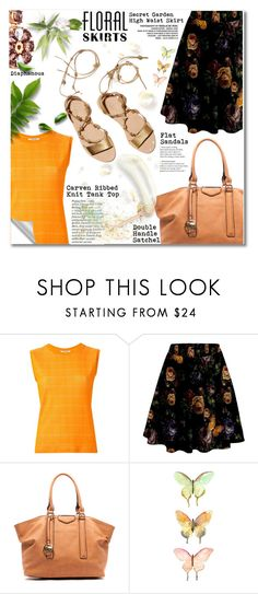 """""""22.07.16 Floral Skirt"""" by shirleipatricia ❤ liked on Polyvore featuring Carven and Loeffler Randall"""