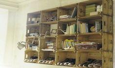 Shelves made by doing easy DIY