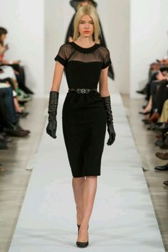Oscar De La Renta, fall fashion 2013 /femme fatale meets Betty Page. #Vogue.