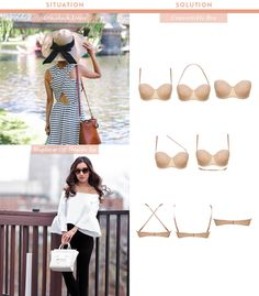 what convertible bras to wear under off shoulder or strapless tops
