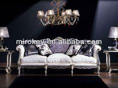 Sofá tapizado de estilo Luis XV