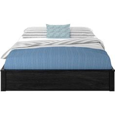 Ameriwood Home Platform Full Bed Frame, Black Oak