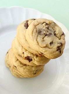 APPLE A DAY: BEST-EVER Chewy Chocolate Chip Cookies - I added chopped cherries and  sauce for color for valentines day!