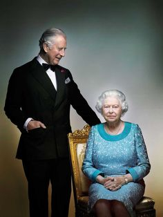 "inpraiseofengland: ""Queen Elizabeth II and Prince Charles by Nick Knight """