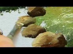 Part 6 Landscape Acrylic- How To Paint Rocks - YouTube