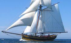 """Le cotre """"Le Renard"""", reconstruction du dernier cotre corsaire de Surcouf ,a été lancé à St Malo en 1991. Caractéristiques:  19 m x 6 m , 8 voiles.  5 marins"""