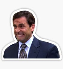"""""""michael scott"""" Stickers by swampyak Bubble Stickers, Meme Stickers, Snapchat Stickers, Phone Stickers, Printable Stickers, Diy Stickers, Bumper Stickers, Michael Scott, The Office Stickers"""
