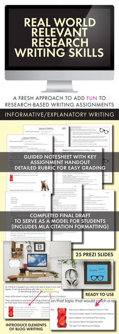 Teach research writing skills with this fresh approach! #highschoolEnglish #middleschoolEnglish #researchpapers #essays