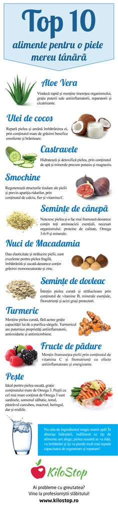 Vrei să ai o piele mereu tânără?  Iată 10 alimente pe care să le consumi! #frumusete #estetica Health Eating, Health Diet, Health Fitness, Skin Nutrition, Health And Nutrition, Herbal Remedies, Natural Remedies, Helathy Food, Health Options