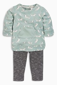 Buy Teal Cat Print Tunic And Leggings Set (0mths-2yrs) online today at Next: United States of America