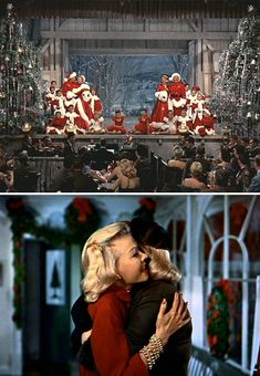 I'd like to live in this scene from White Christmas. Might be a little cold with the barn doors open, but still.