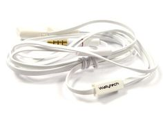White Flat-Cable In-Ear Headphones with mic