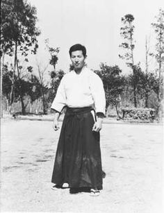 Seishiro Endo as a university senior at aikido camp in 1967