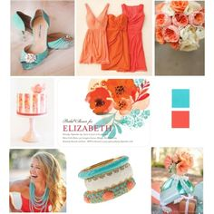 A gorgeous watercolor wedding inspiration board from Just Wenderful - the perfect palette for a summer wedding!