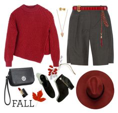 """""""Red Dawn Fall"""" by mcheffer ❤ liked on Polyvore featuring Pamela Love, Sportmax, Isabel Marant, maurices, Emilio Pucci, Rebecca Minkoff and Lancôme"""