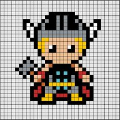 Discover recipes, home ideas, style inspiration and other ideas to try. Pixel Art Wolf, Pixel Art Kpop, Pixel Art Joker, Pixel Art Avengers, Pixel Art Animals, Hama Beads Disney, Perler Beads, Perler Bead Art, Hama Disney