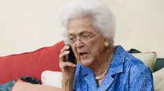 Barbara Bush Calls White House To See If She Can Leave Husband There For Few Hours