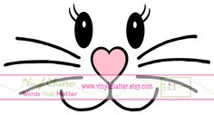 Easter Bunny Face DIY Iron on Decal. $7.00, via Etsy.