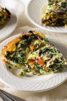 Crustless Slow Cooker Spinach Quiche