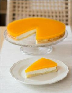 Tvarožník s mandarinkovým želé od zzuzziik Healthy Sweet Snacks, Czech Recipes, Cake & Co, Sweet Life, Sweet Recipes, Tart, Cheesecake, Deserts, Food And Drink