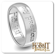 """The  Official Licensed The Hobbit """"My Precious"""" hand crafted here in Middle Earth New Zealand home of Peter Jackson, The Lord of the Rings and Hobbit Trilogy. Each ring is unique and custom made to order here by our hobbits in middle earth http://www.thehobbitjewelry.com/the-hobbit-an-unexpected-journey-my-precious-ring-18.html"""