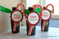 DIY Ugly Sweater Party prizes
