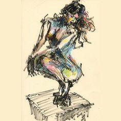 #figuredrawing #brushmarker #neocolor #wax #pastels Photo credit @girlsonglass thank you again!    #willkim #illustration #drawing #art #croquis #lifedrawing #nudedrawing #nude #model #girl #인체드로잉 #누드 #미술 #일러스트레이션 #그림 #드로잉 #크로키 #스케치