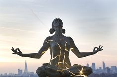 I love this sculpture. It reminds me of my own meditation practice. Strength within...
