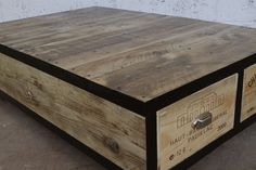 Gorgeous coffee table made from wine crates