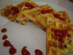 Waffle pizza – o gustare deosebită – floridemandarin Waffle Pizza, Ketchup, Waffles, Breakfast, Waffle, Morning Breakfast