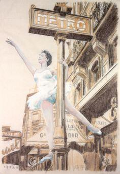 Christine Gaulthier by Serge Breton, 1955