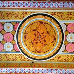 Buddhist temple ceiling in Sri Lanka. #VisitSriLanka
