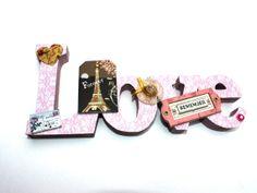 Vintage Paris Love Sign by Bellecardsandgifts on Etsy, £16.00