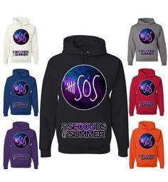 5 Seconds Of Summer Hoodie 5SOS Galaxy 5 SOS Sweatshirt by TeeHunt, $17.89