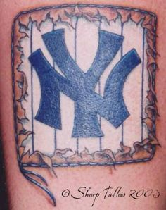 7627cc0cf7fdb New York Yankees baseball team logo tattoo New York Yankees Baseball,  Yankees Fan, Tattoo