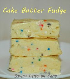This Cake Batter Fudge recipe doesn't take much time to whip together. (scheduled via http://www.tailwindapp.com?utm_source=pinterest&utm_medium=twpin&utm_content=post835181&utm_campaign=scheduler_attribution)