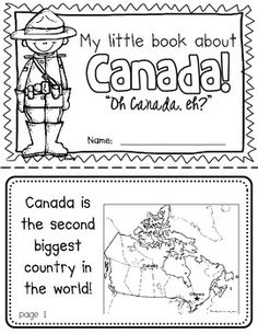 Canada Booklet (A Country Study) Canada Booklet (A Country Study)-- Use during social studies units about countries around the world! Kindergarten Social Studies, Social Studies Activities, Teaching Social Studies, Canada For Kids, All About Canada, Canada 150, Mini Books, Canada Day Crafts, Geography Lessons