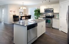 Luna Showhome - Kitchen and Dining Room Morrison Homes, Kitchen Dining, Dining Room, New Homes For Sale, Home Builders, Small Spaces, Floor Plans, Vibrant, Design Inspiration