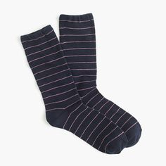Thin-striped socks : socks and tights | J.Crew - black and white